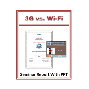 3G vs. Wi-Fi Seminar Report With PPT