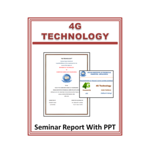 4G Technology Seminar Report and PPT