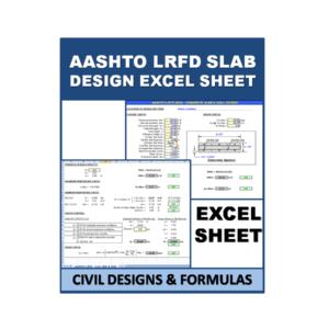 AASHTO LRFD Slab Design Excel Sheet