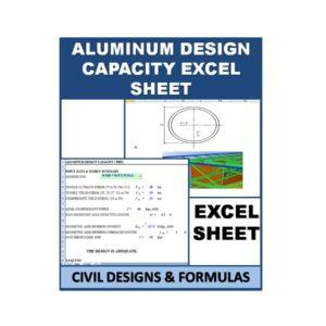 ALUMINUM DESIGN CAPACITY Excel Sheet