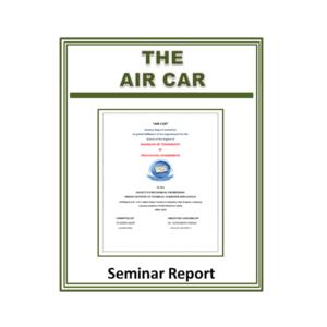 Air Car Seminar Report Main Page