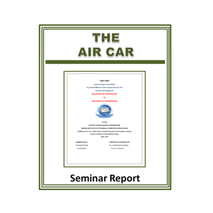 Air Car Seminar Report