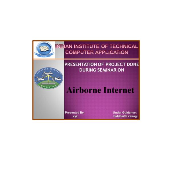 Airborne Internet PPT