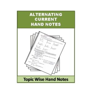 Alternating Current Physics Hand Note