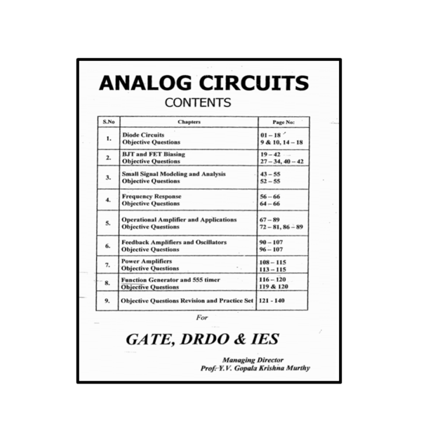 Analog Circuits Workbook Content
