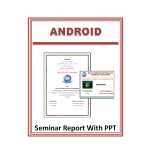 Android Seminar Report and PPT