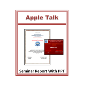 Apple Talk Seminar Report and PPT