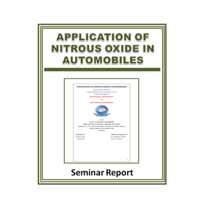 Application Of Nitrous Oxide In Automobiles Seminar Report
