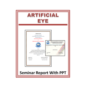 Artificial Eye Seminar Report With PPT