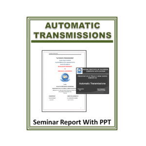 Automatic Transmissions Seminar Report with PPT