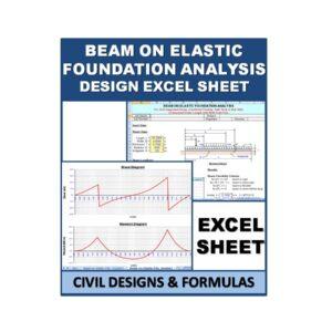 BEAM ON ELASTIC FOUNDATION ANALYSIS Design Excel Sheet