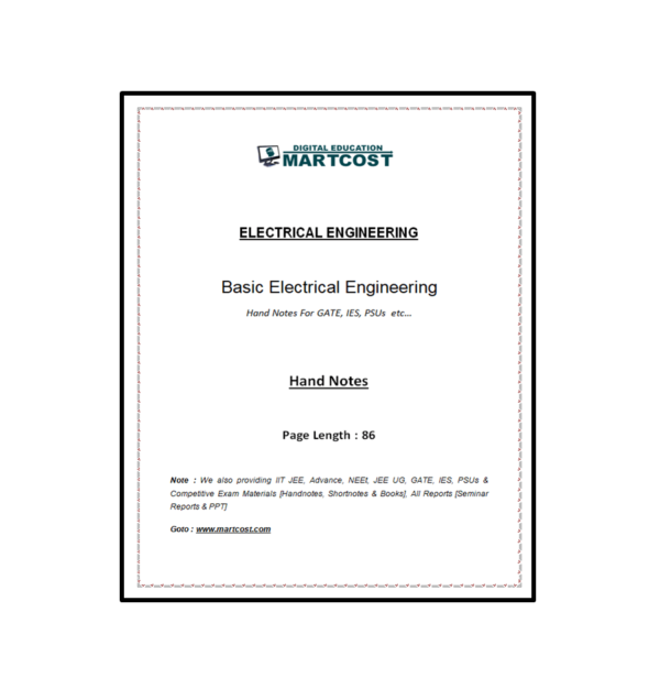 Basic Electrical Handnote First Page