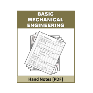 Basic Mechanical Engineering Handnote