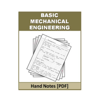 Basic Mechanical Engineering Hand Note