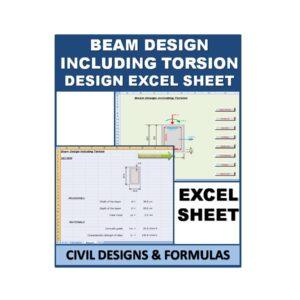 Beam Design including Torsion excel sheet