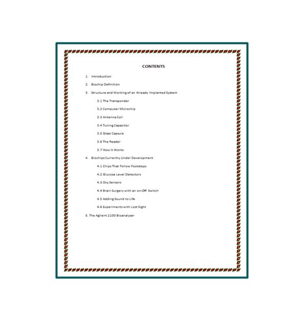 Biochips Seminar Report Content 1