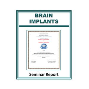 Brain Implants Seminar Report