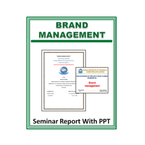 Brand Management Seminar Report With PPT