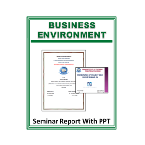 Business Environment Seminar Report With PPT