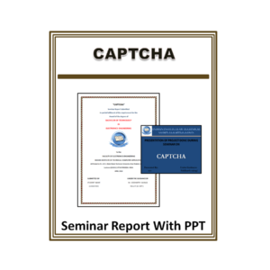 CAPTCHA Seminar Report With PPT