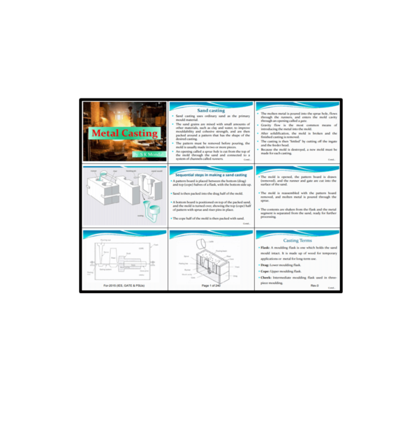 Casting, Welding, Machine Tools, Material Science Book First Page