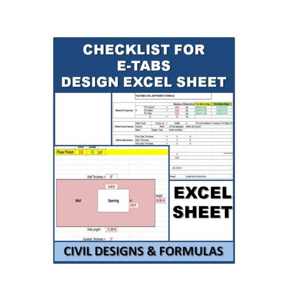Checklist For E-tabS