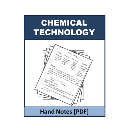 Chemical Technology  Free Hand Note