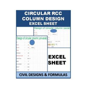 Circular RCC Column Design Excel Sheets