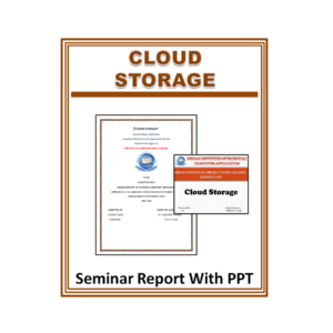 Cloud Storage Seminar Report With PPT