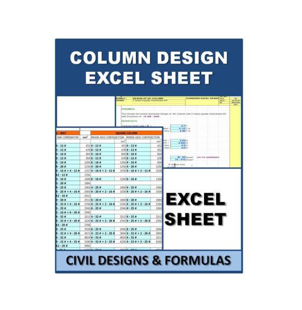 Column Design Excel Sheets