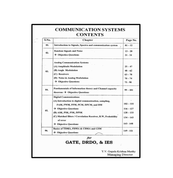 Communication Systems Workbook Content