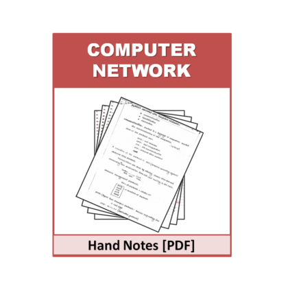 Computer Networks Hand Note