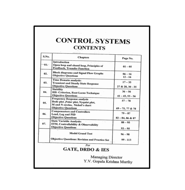 Control Systems Workbook Content