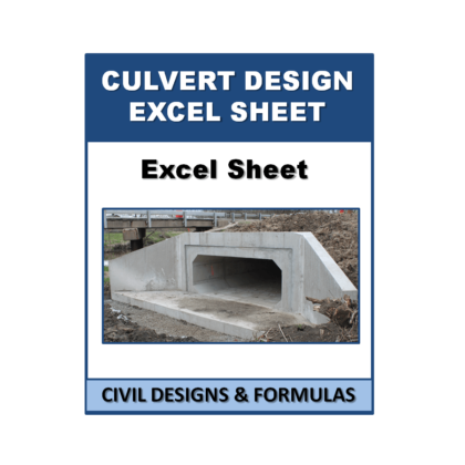 Box Culvert Design Excel Sheet with Shortcut Key  (based on IS Code)