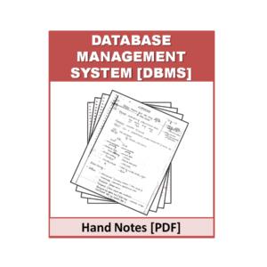 DBMS Free Handnote