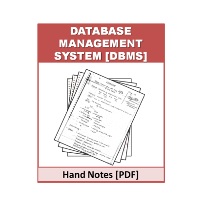 Database & Management System (DBMS) Hand Note
