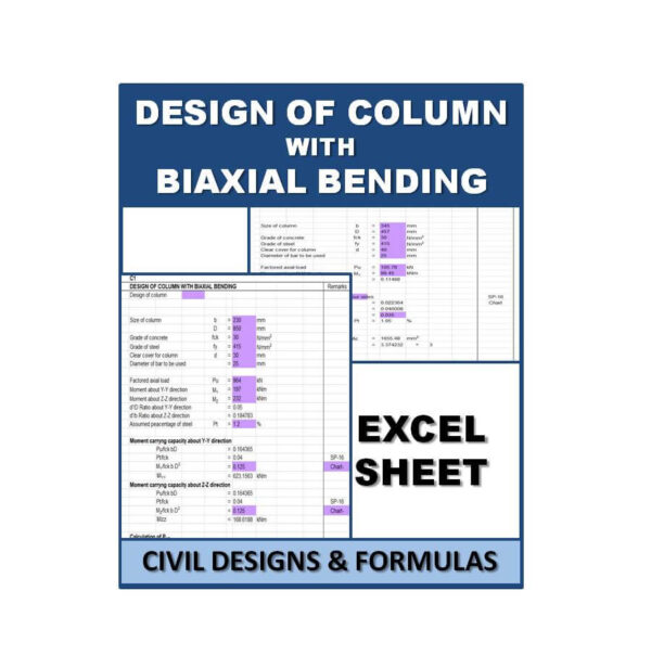DESIGN OF COLUMN WITH BIAXIAL BENDING