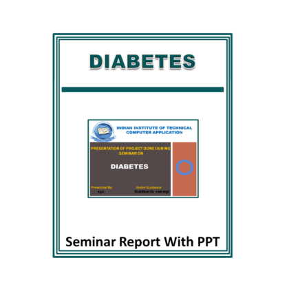 Diabetes Presentation Report (PPT)