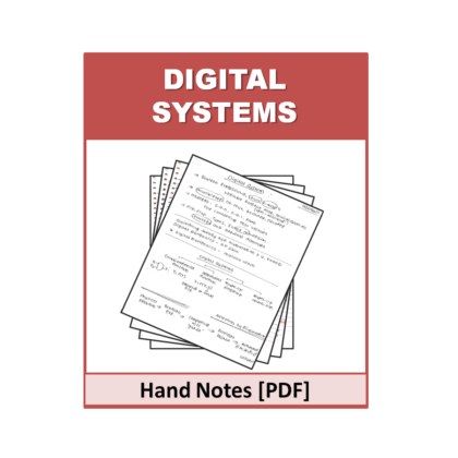Digital Systems Hand Note
