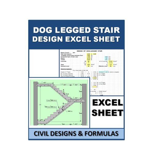 Dog legged stair Design Excel Sheets