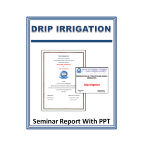 Drip Irrigation Seminar Report With PPT