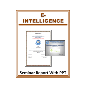 E-Intelligence Seminar Report With PPT
