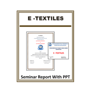 E -Textiles Seminar Report With PPT