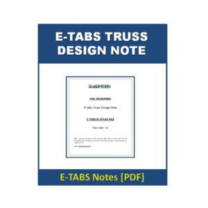 E-tabs Truss Design Note