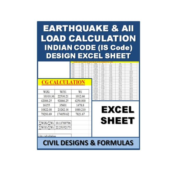 Earthquake & Load Calculation Design Excel Sheets