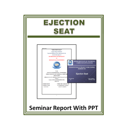 Ejection Seat Seminar Report with PPT