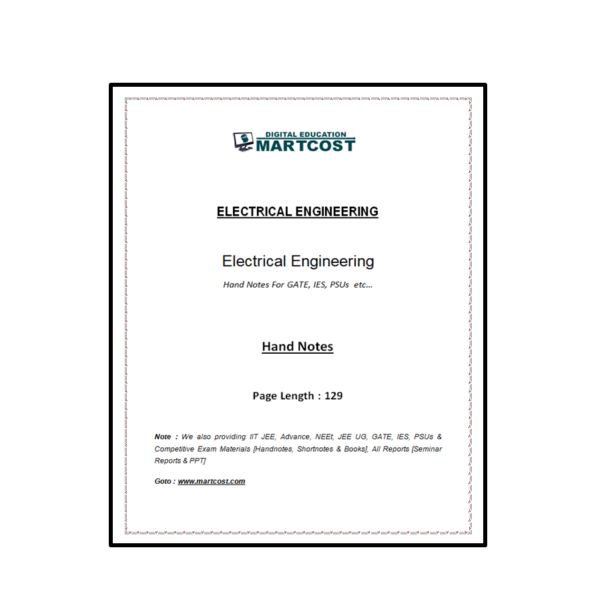 Electrical Engineering Handnote First Page
