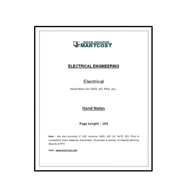 Electrical Handnotes First Page