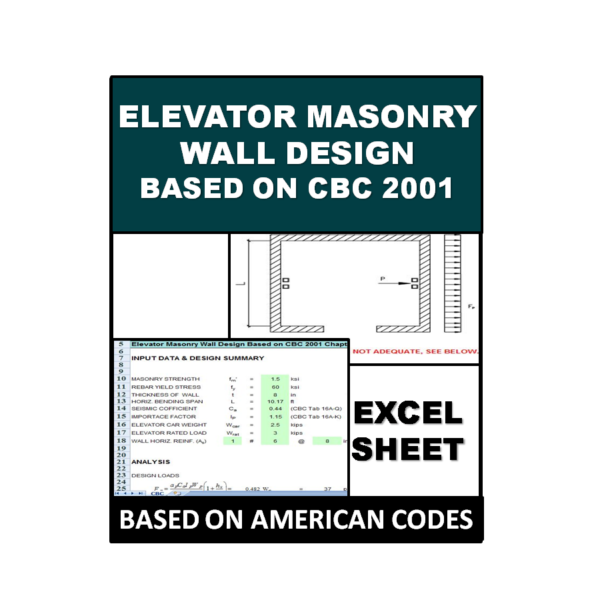 Elevator Masonry Wall Design Based on CBC 2001