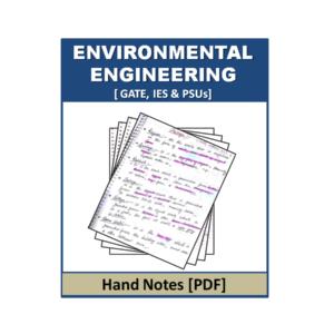 Environmental Engineering Hand Note